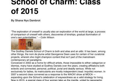 Microsoft Word - Godfrey daniels School of Charm HuffPost articl